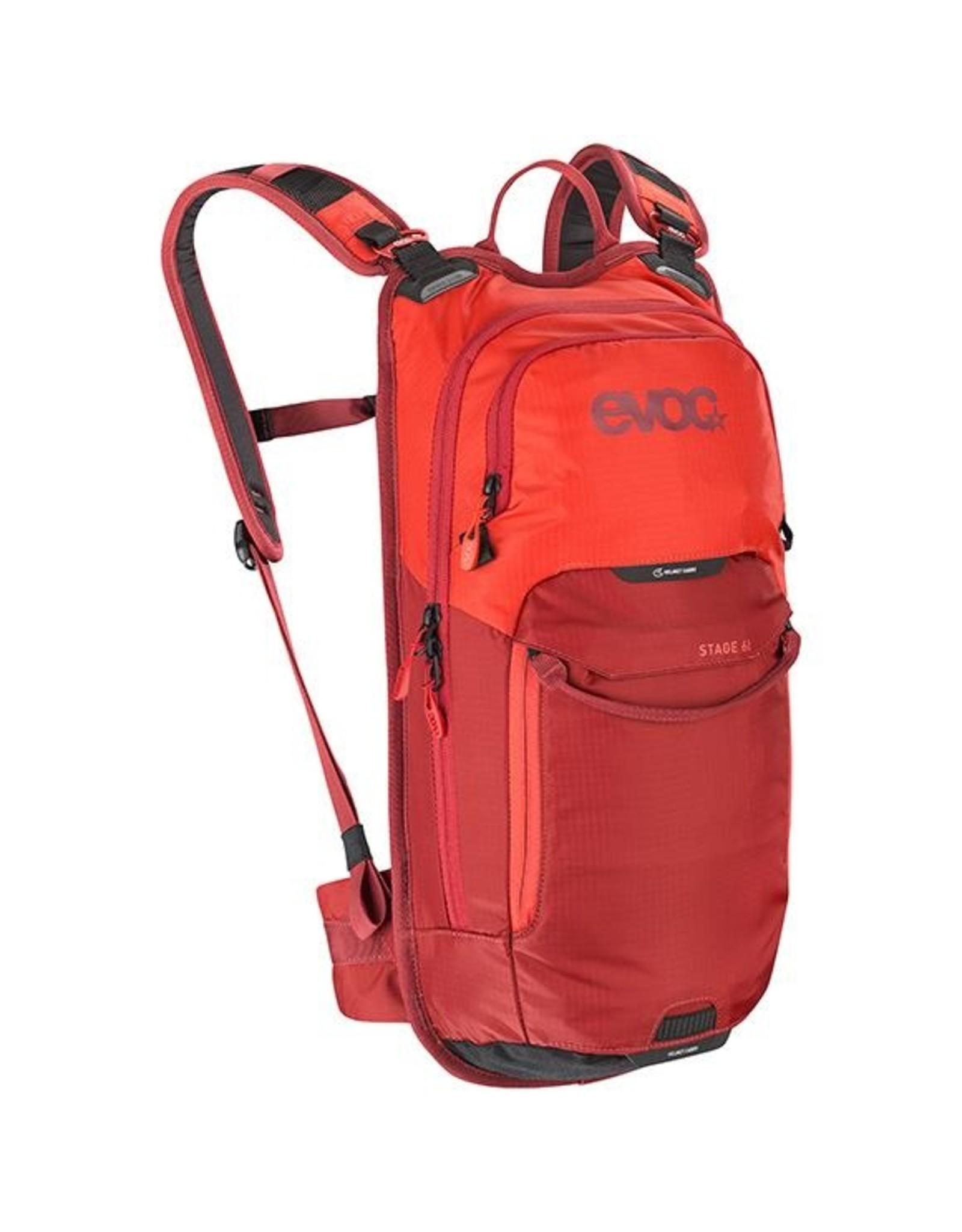 evoc EVOC, Stage 6 + 2L Bladder, Hydration Bag, Volume: 6L, Bladder: Included (2L), Orange/Chili Red