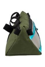 All-City All-City x Topo Bike Bag: Blue/Green/Gray