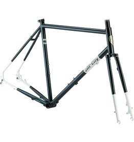 All-City 55cm All-City Macho Man Disc Frameset 55cm, Sparkle Black/White