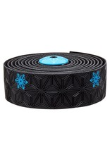 Supacaz Supacaz SSK Handlebar Tape, Black and Neon Blue PRINT /set Super Sticky Kush