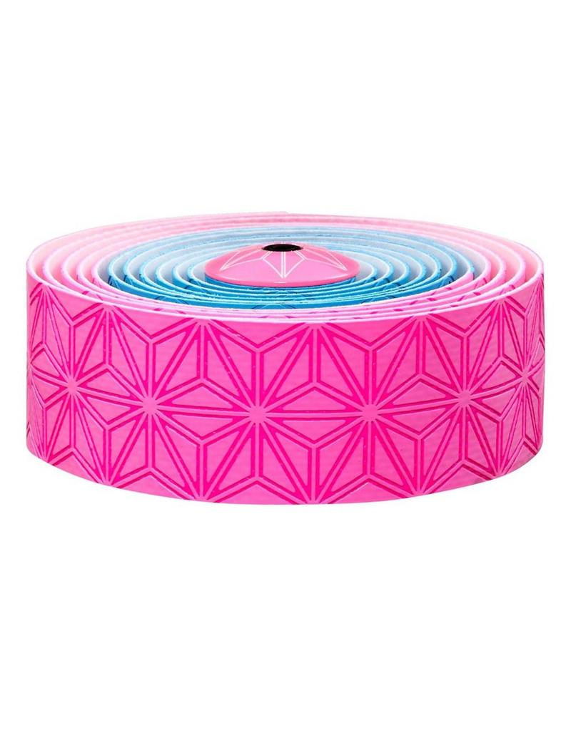 Supacaz Supacaz SSK Neon Pink & Neon Blue Super Sticky Kush Handlebar Tape, Multi Colour  /set