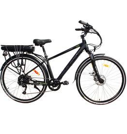 "DCO bicycles BRB E-bike, 16"" Men, Matt Black-Green"