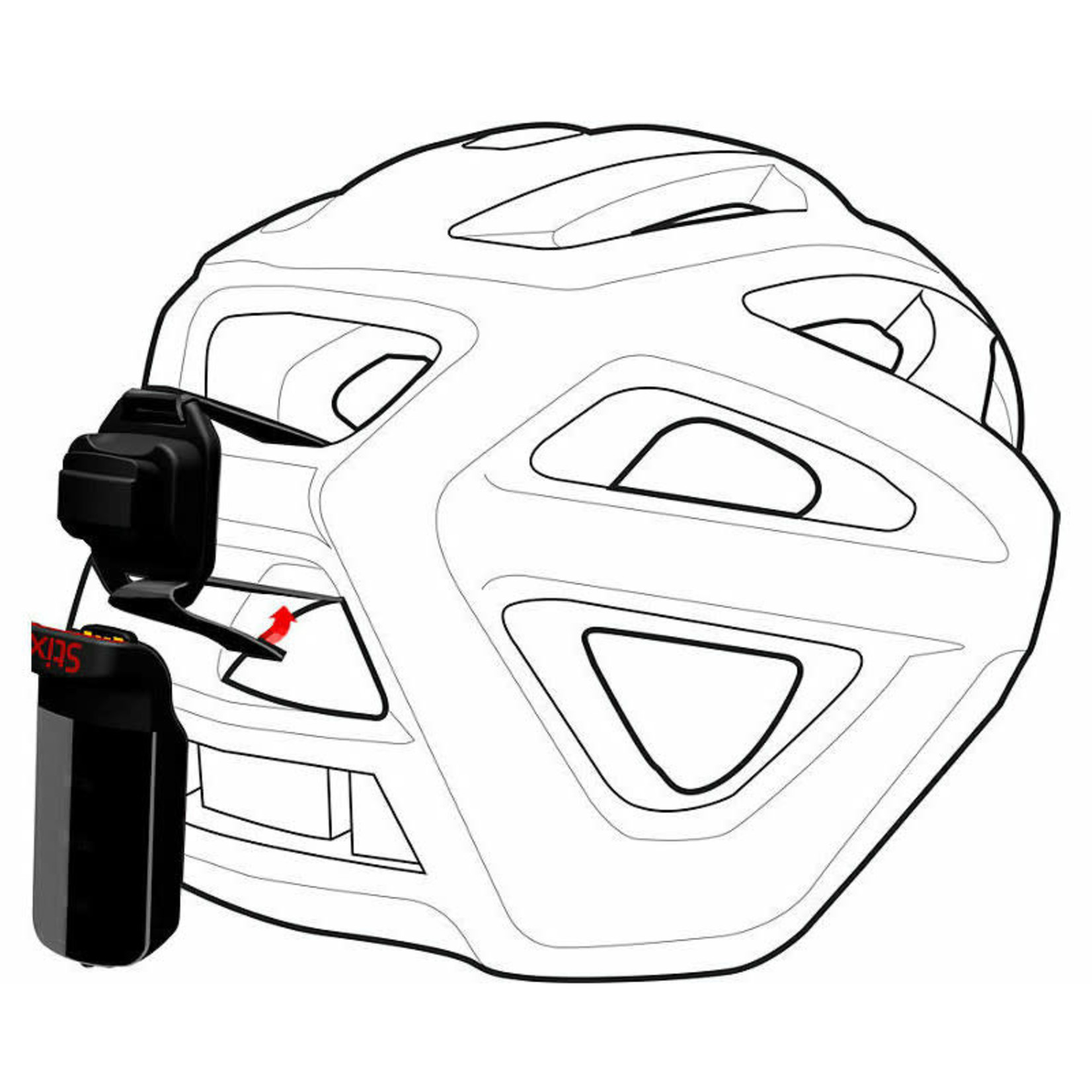 Specialized Specialized - STIX HELMET STRAP MOUNT Black