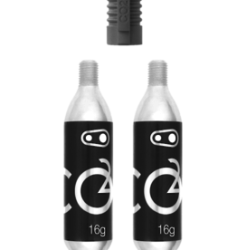 CRANK BROTHERS Crankbrothers - CO2 16G Cartridge (2 Units) with inflator