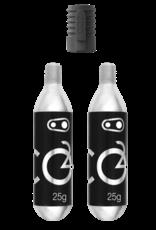 CRANK BROTHERS Crankbrothers - Cartouche CO2 25G (2 unités) avec gonfleur