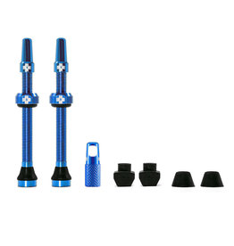 MUC-OFF Muc-Off - Valve Tubeless, Presta, 44mm, Bleu, Paire