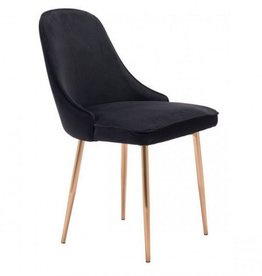 BLACK VELVET MERRITT CHAIR