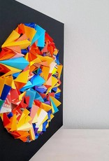 """PLIAGE 67  ART PIECE BY KARINE DEMERS 10""""x10"""""""