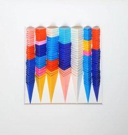"""PLIAGE 72 ART PIECE BY KARINE DEMERS 10""""x10"""""""