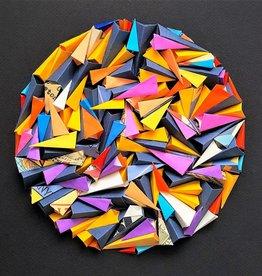 """PLIAGE 74 ART PIECE BY KARINE DEMERS  10""""x10"""""""