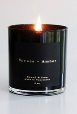 BRAND&IRON  AMBER - SPRUCE CANDLE