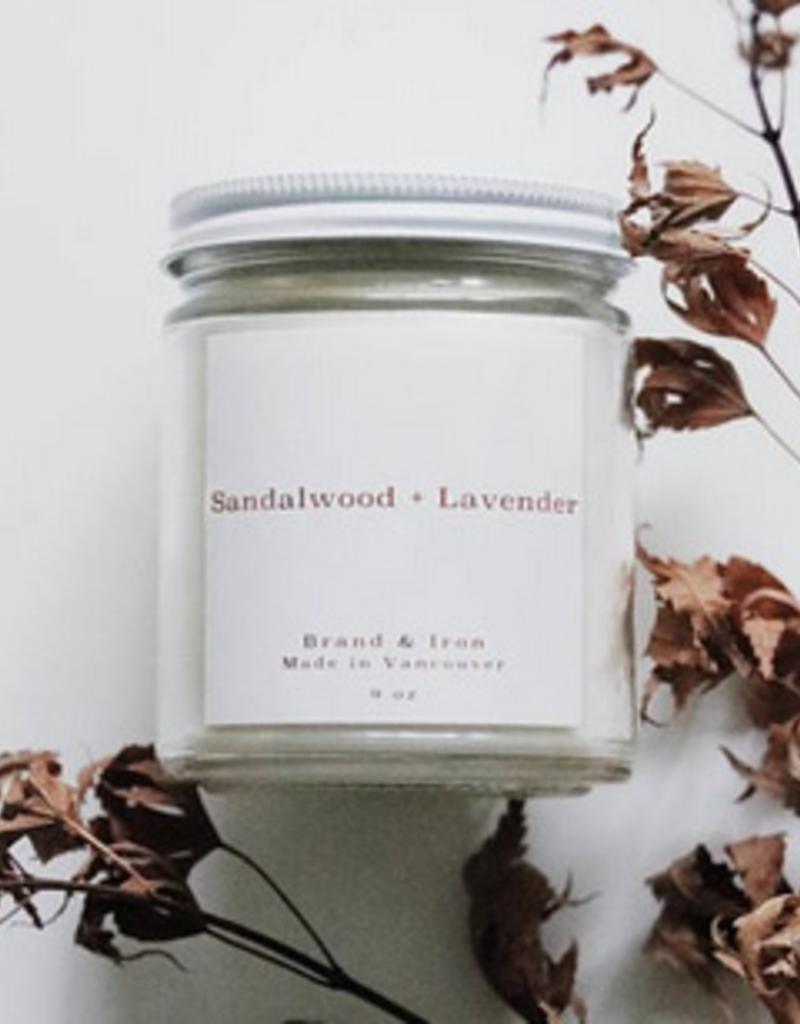 SANDLEWOOD & LAVANDER BRAND&IRON CANDLE