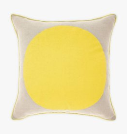COUSSIN DE LIN POINT JAUNE 20x20