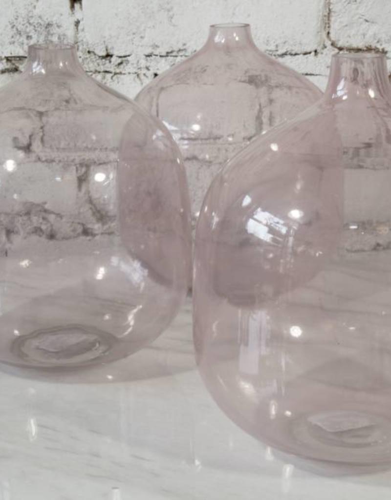 Stoneware Flower Pot w/ Saucer, Rose,