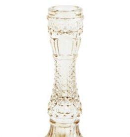 WHITE GLASS TAPPER HOLDER