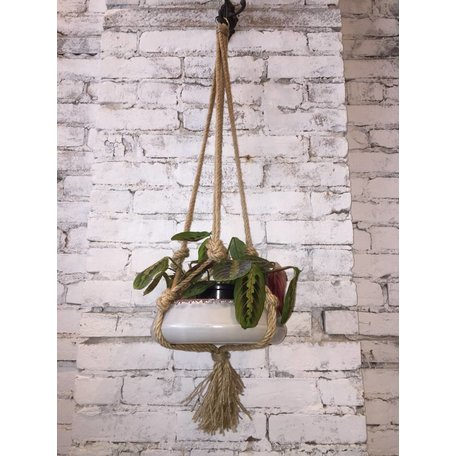 "MACRAMÉ JUTE 36"" SUSPENSION PLANTE"