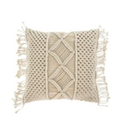 MACRAME MEDINA  CUSHION 20X20 NATUREL