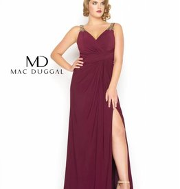 Mac Duggal 65982 v neck grown
