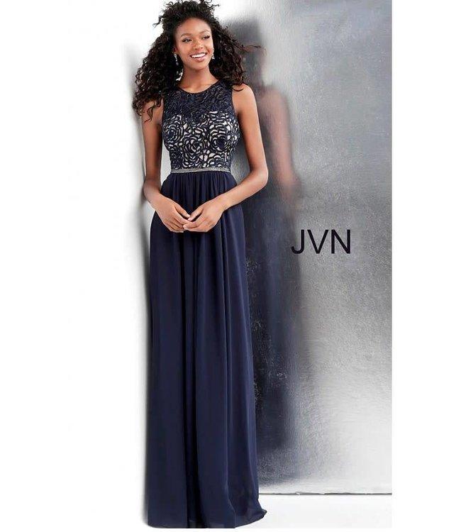 Jovani 62561 Robe fluide à haut perlé