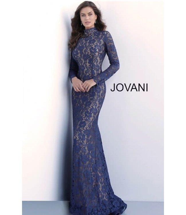 Jovani 63209 Robe ajustée à manches longues