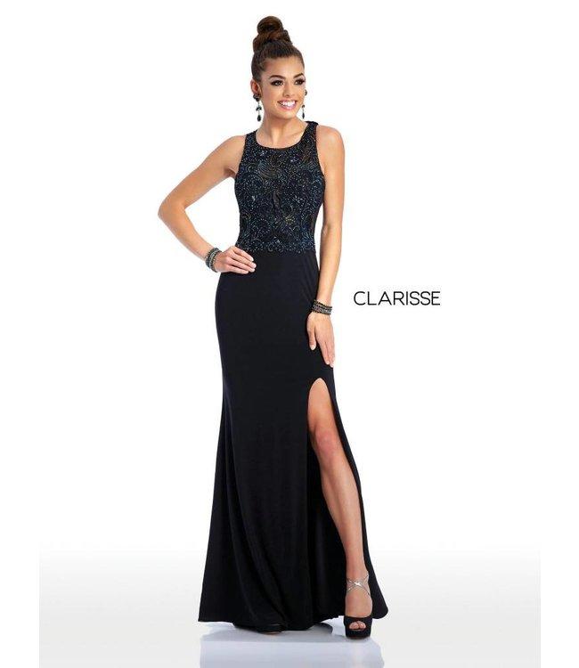 Clarisse 3498 Robe ajustée et jambe ouverte