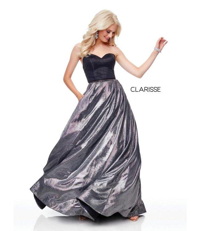 Clarisse 3710 Robe bustier tissu métalique