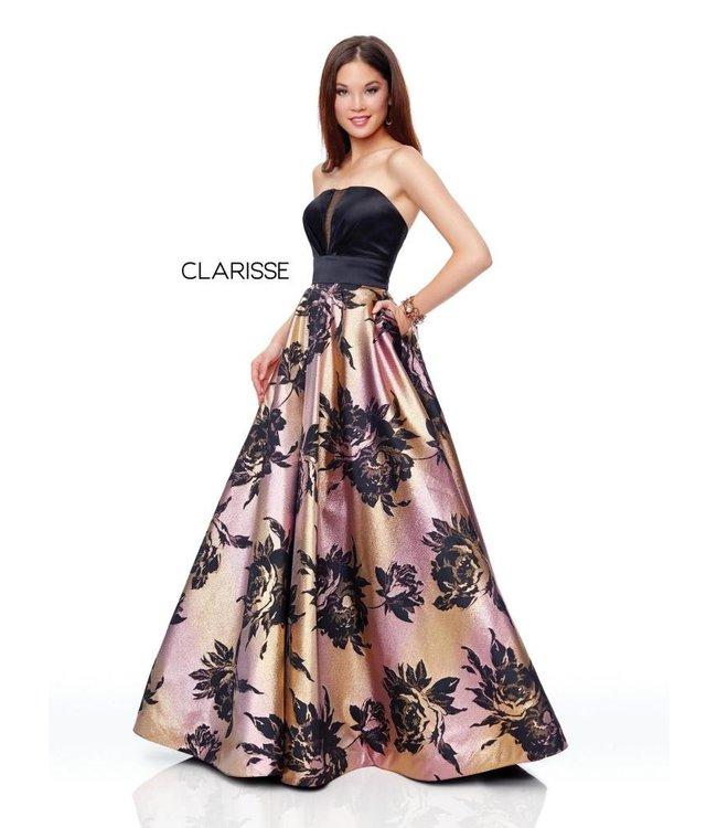 Clarisse 3718 Robe bustier coupe en A