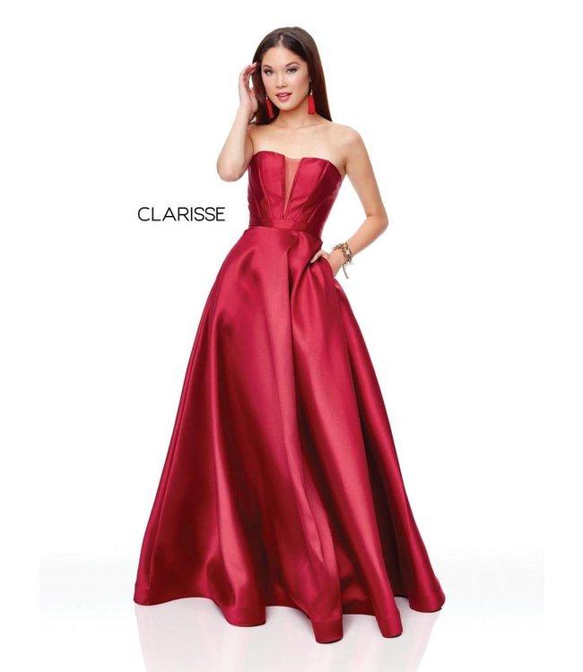 Clarisse 3743 Robe bustier coupe en A