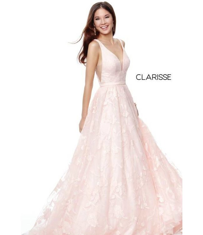 Clarisse 3876 Robe en A avec broderies
