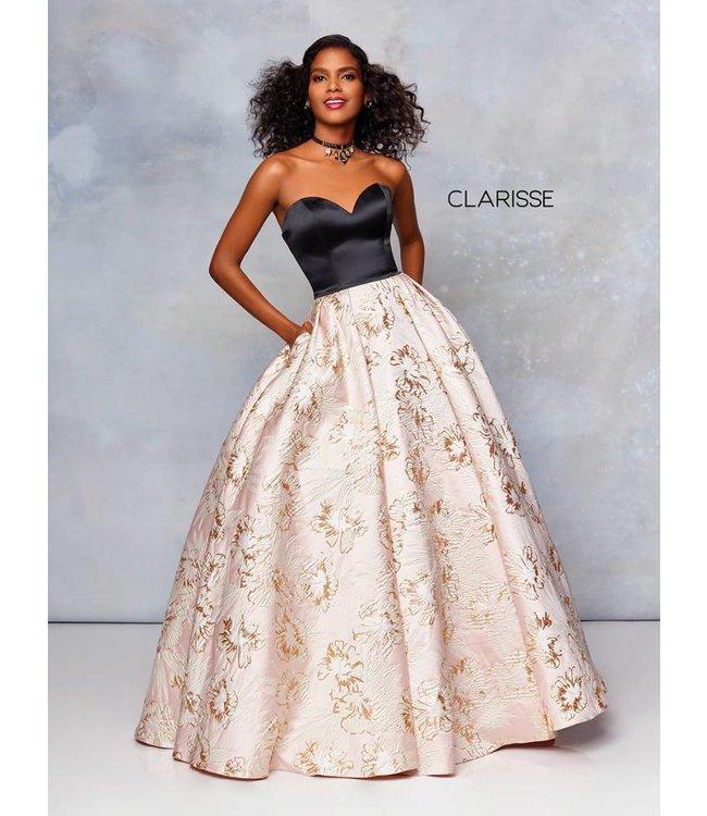 Clarisse 5032 Robe bustier avec fleurs