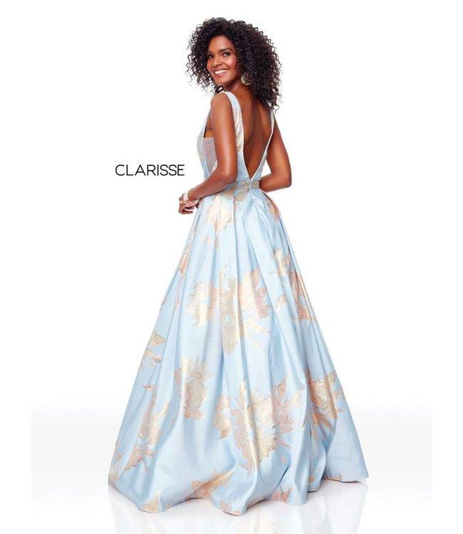 Clarisse 3703 Robe à fleurs coupe en A