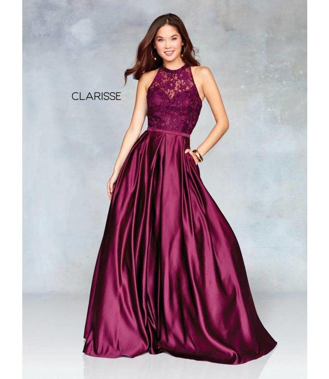 Clarisse 3763 Robe en A haut en dentelle