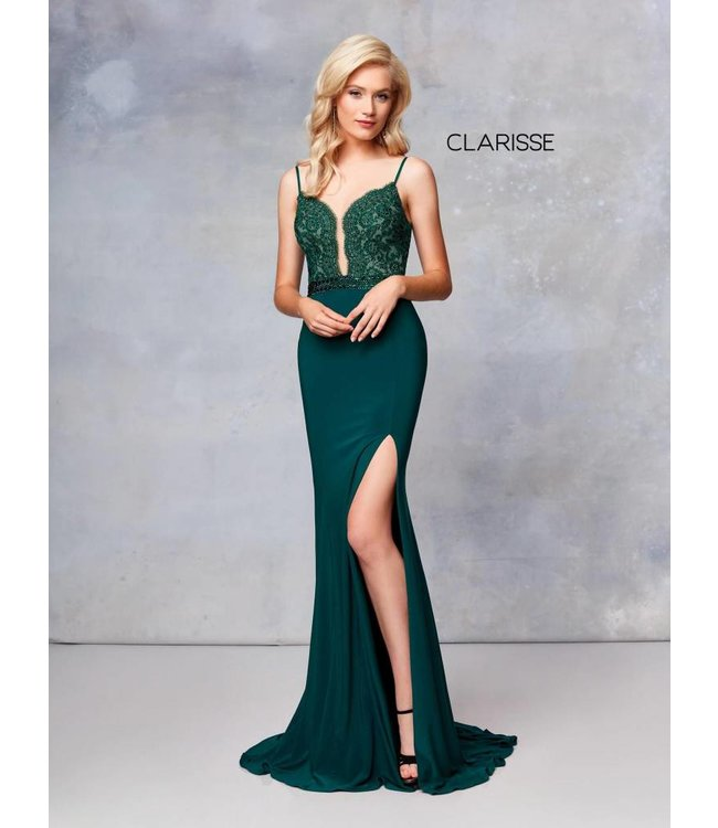 Clarisse 3805 Robe ajustée avec haut en dentelle