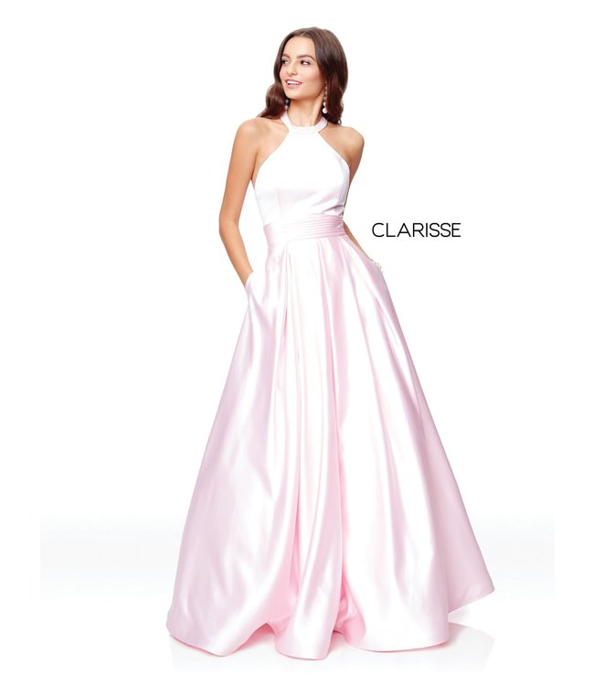 Clarisse 3489 Robe en satin coupe en A