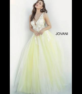 Jovani 55634 Robe coupe en A à appliques florales