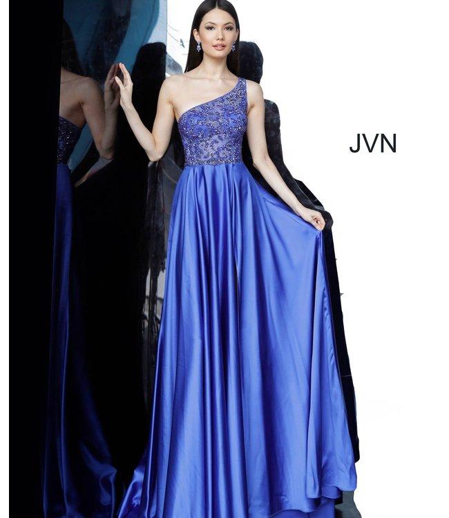 Jovani 4277 Robe coupe en A à haut asymétrique et perlé