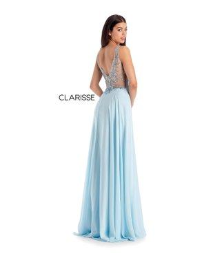 Clarisse 8154 Robe fluide avec haut perlé