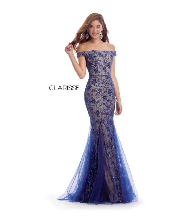 Clarisse 8014 Robe sirène avec dentelle