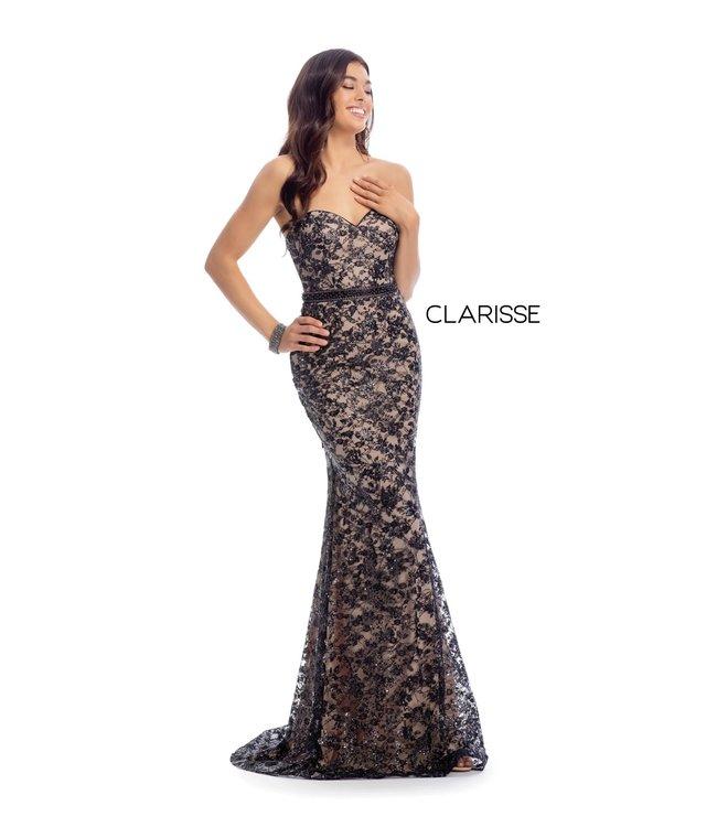 Clarisse 8017 Robe bustier en dentelle