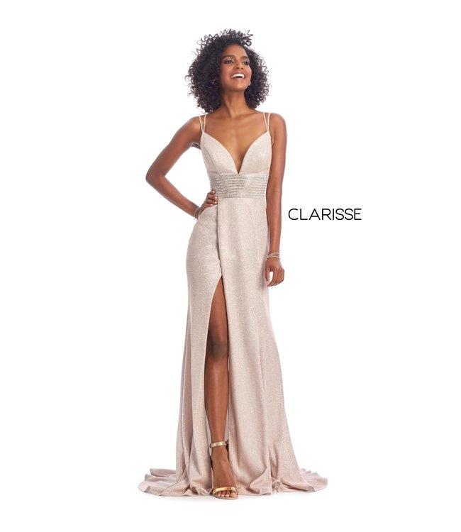 Clarisse 8009 Robe droite et décolleté