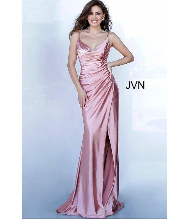 Jovani 03104 Robe ajustée drapée à col baveux