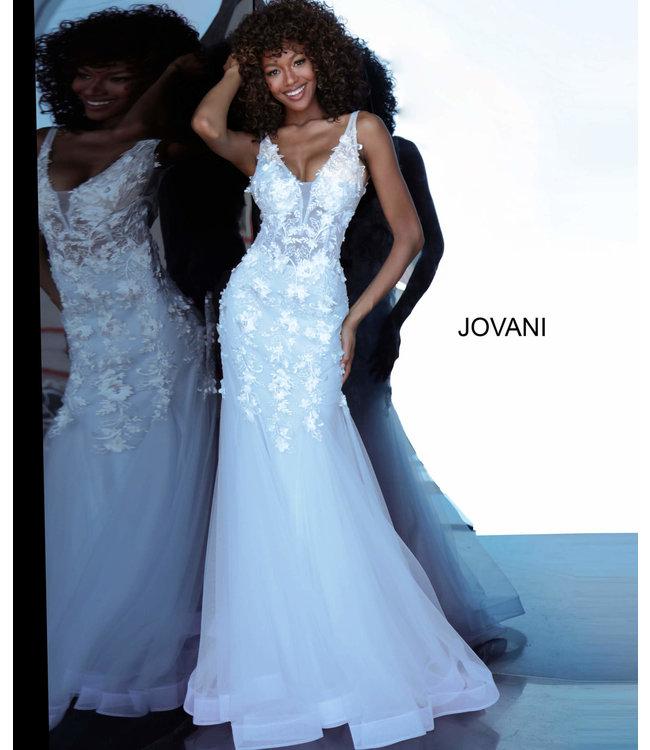 Jovani * EX * 8066 Robe ajustée à appliques florales