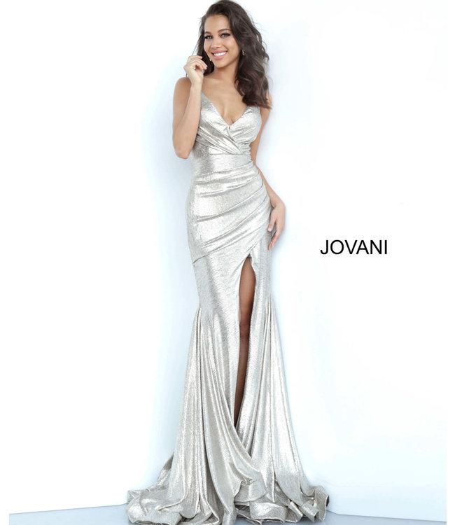 Jovani 67977 Robe ajustée drapée scintillante