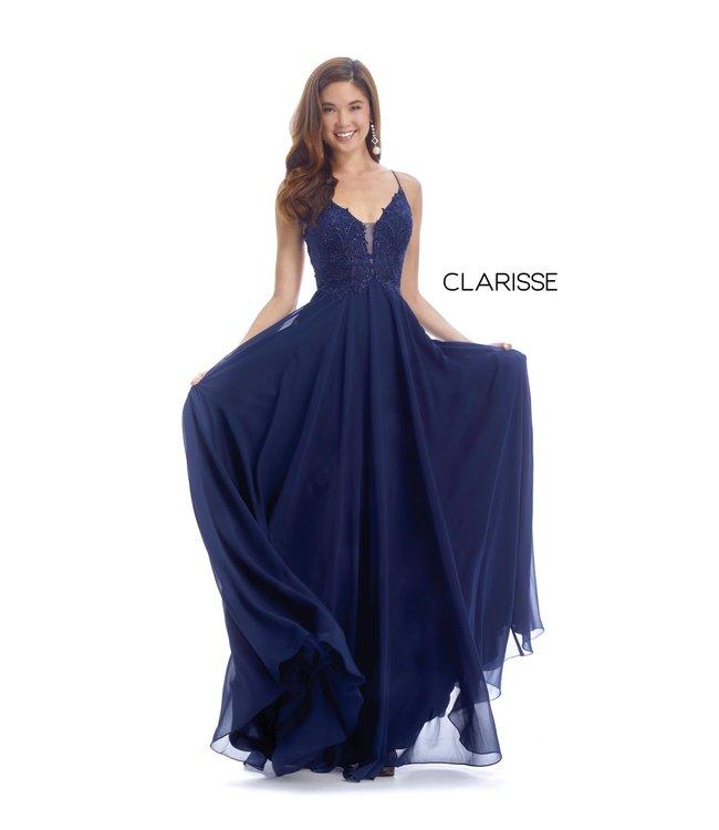 Clarisse 8026 robe fluide dos lacé