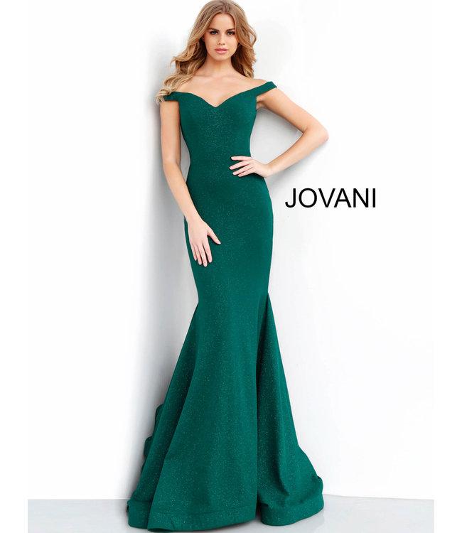 Jovani * EX * 55187 Robe ajustée à encolure en coeur