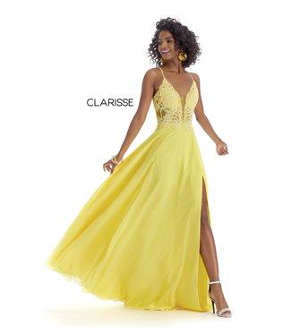 Clarisse 8021 Robe fluide haut en dentelle