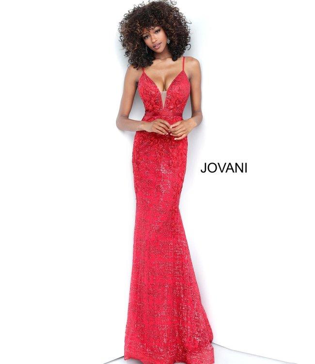 Jovani 62517 Robe ajustée scintillante à appliques