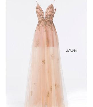 Jovani 55621 Robe coupe en A à appliques florales