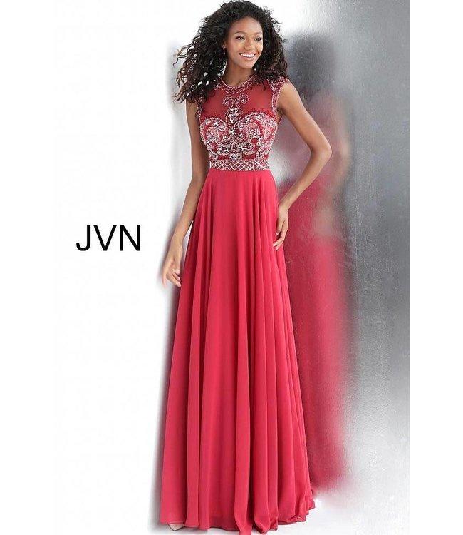 Jovani 60451 Robe coupe en A perlée (taille plus)