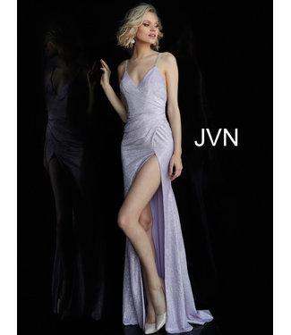 Jovani 67102 Robe ajustée scintillante drapée